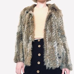 Marc By Marc Jacobs Rabbit Fur Coat